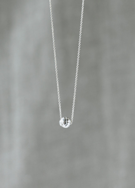 Another Feather Silver Plait Necklace