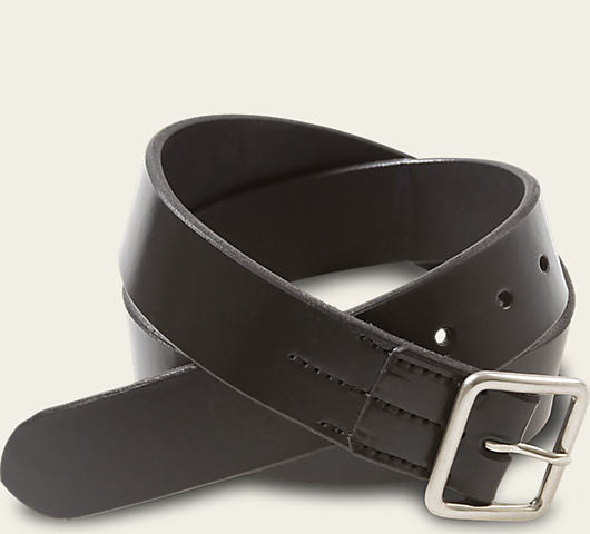 Red Wing Shoes Black Vegetable Tanned Leather Belt