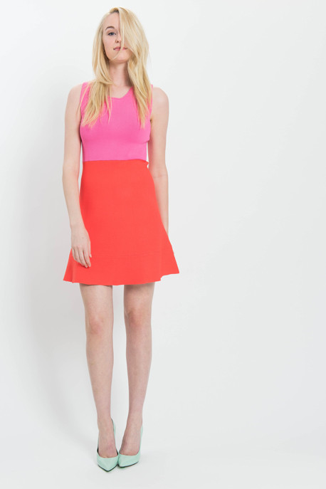 A.L.C. 'Cini' Colour Block Knit Tank Dress