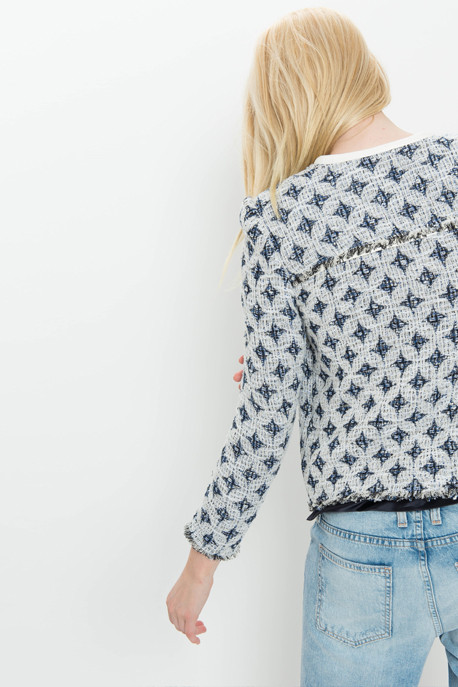 'Handi' Diamond Knit Jacket