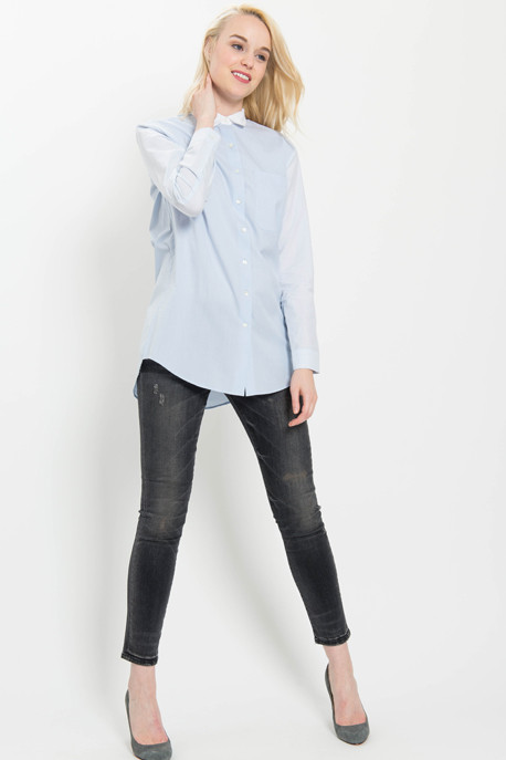 Colour Block Boyfriend Shirt