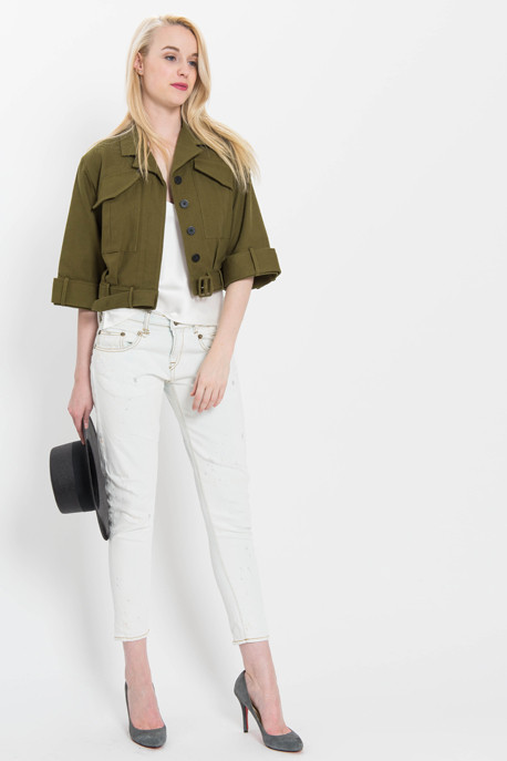 Cropped Military Jacket