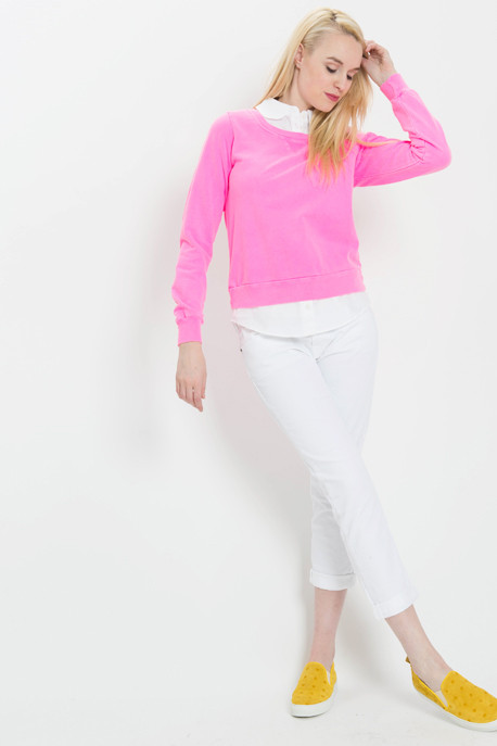 Clu Layered Sweatshirt with Collar