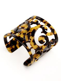 Lisa August Large Filigree Tortoise Cuff