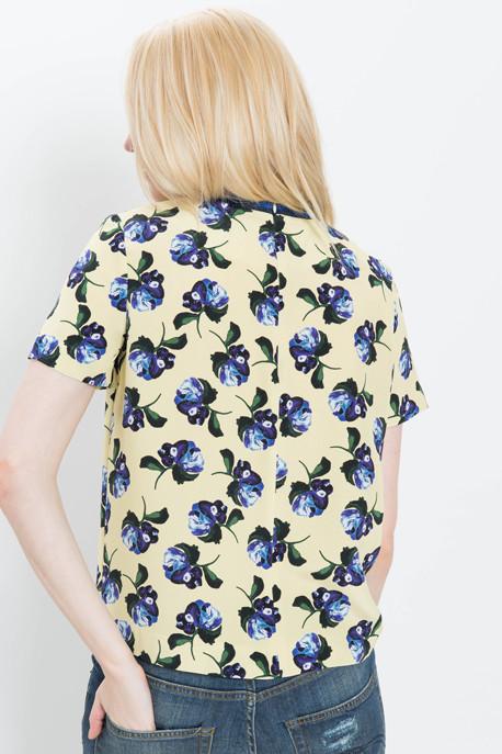 Paget Floral Print Silk Tee