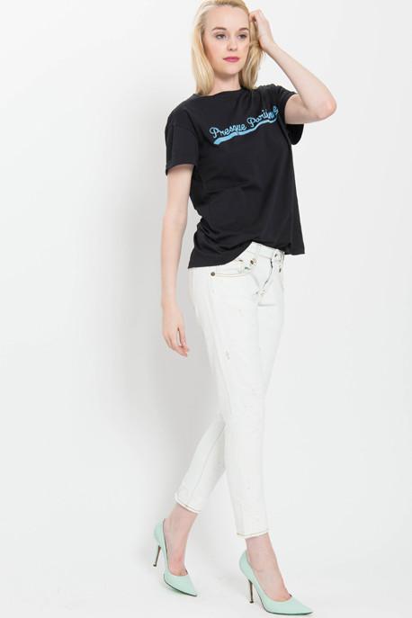 Être Cécile Presque Parisienne Flock Oversized T-Shirt