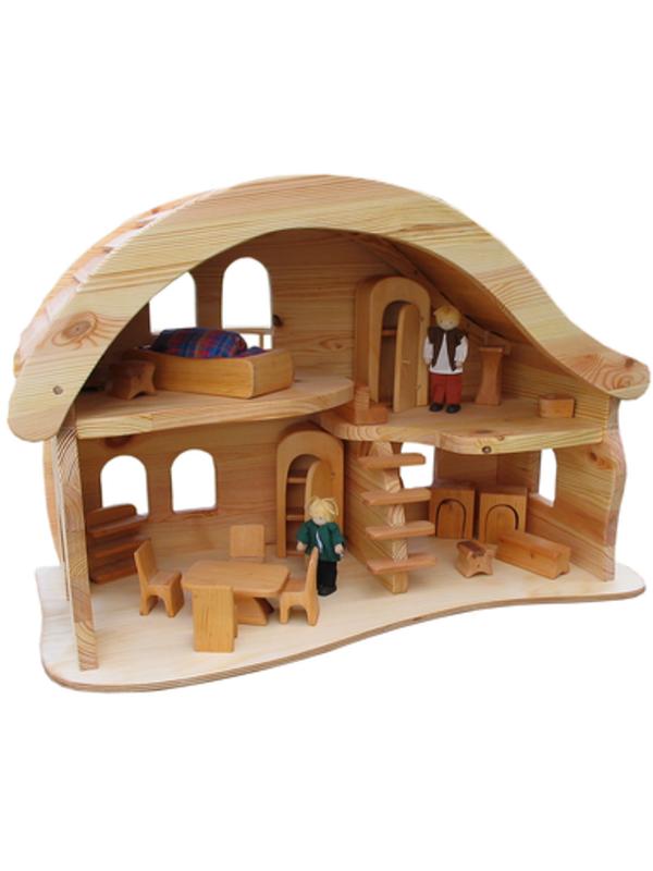 Как сделать в кукле дом не из дерева