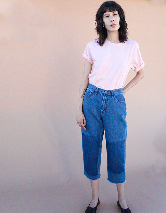 ACHRO Relaxed Crop Contrast Denim