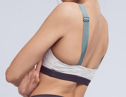 VPL Stripe B Bra: Space Dye Mint