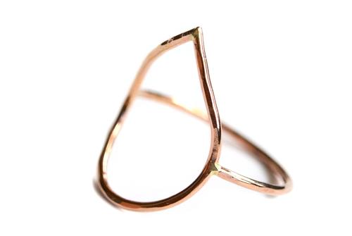 Silversheep Jewelry Open Teardrop Ring