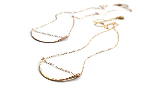 Silversheep Jewelry Hammered Arc Necklace
