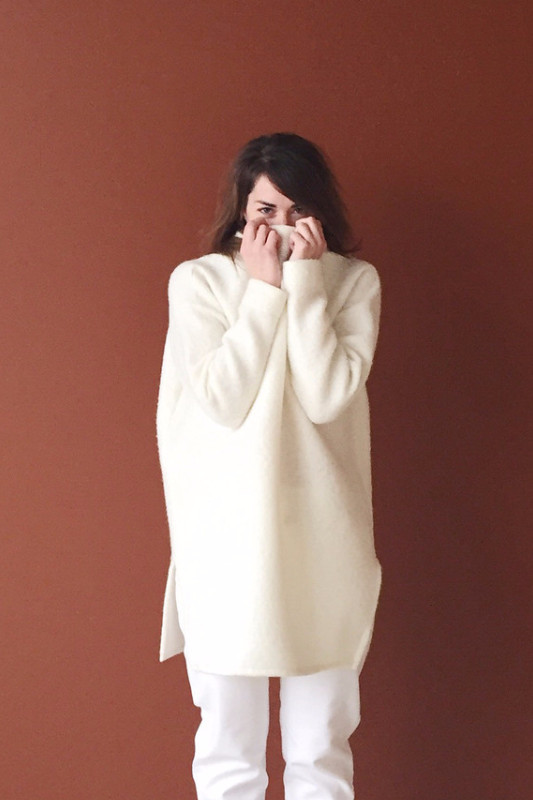 Hackwith Design House High Neck Sweater - Ivory