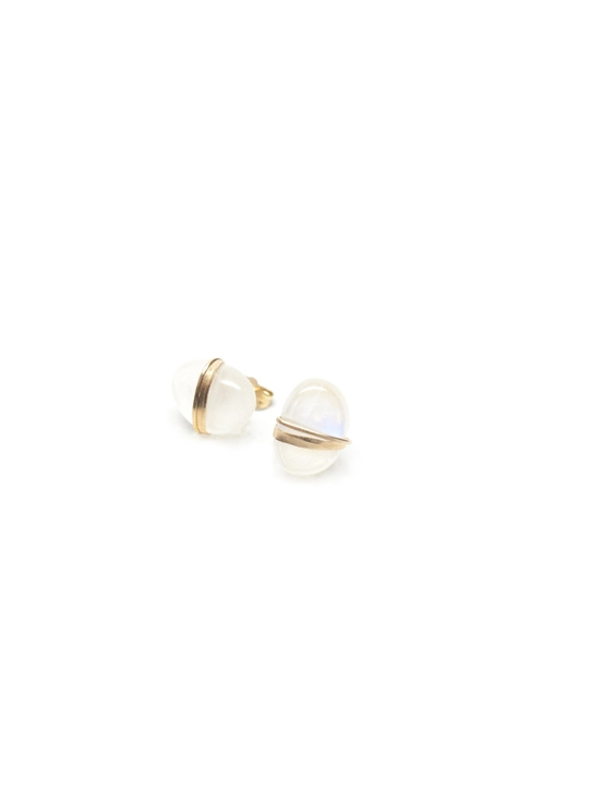 Mary Macgill Moonstone Stud Earrings
