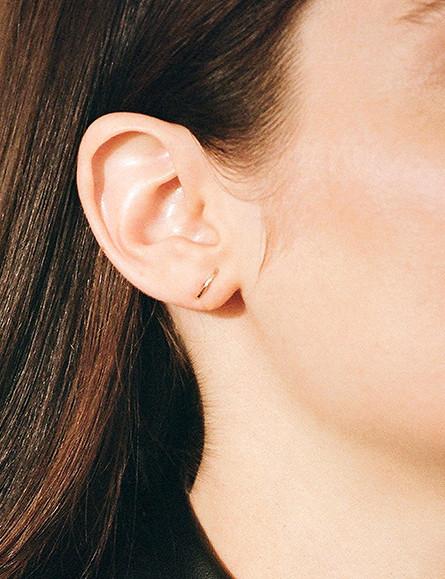 Kathleen Whitaker Gold Stitch Small Earring