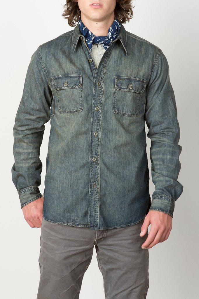 Men 39 s rrl mason workshirt from cedar hyde mercantile for Mason s men s shirts