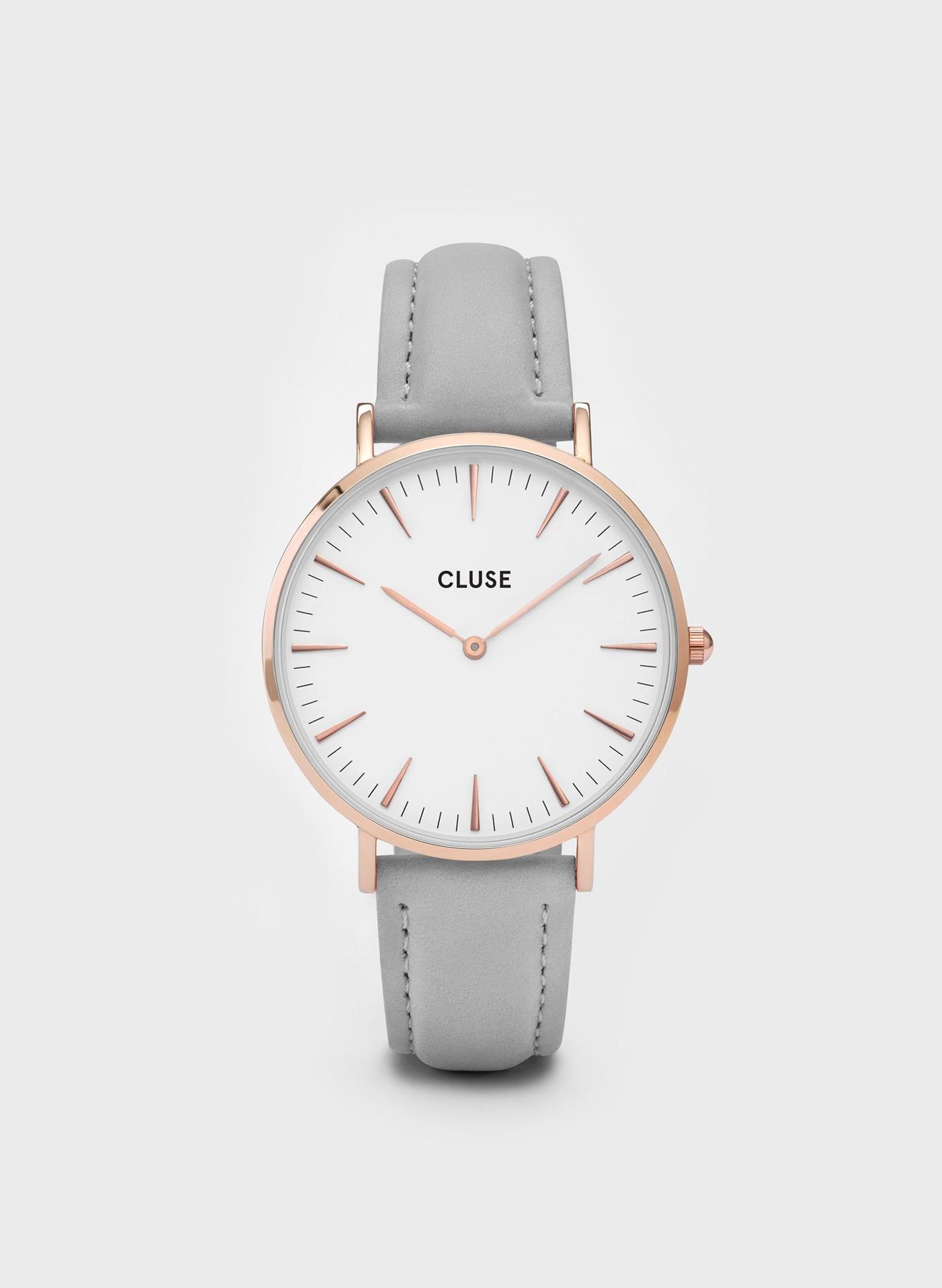 cluse la boheme rose gold watch grey from vuela boutique. Black Bedroom Furniture Sets. Home Design Ideas