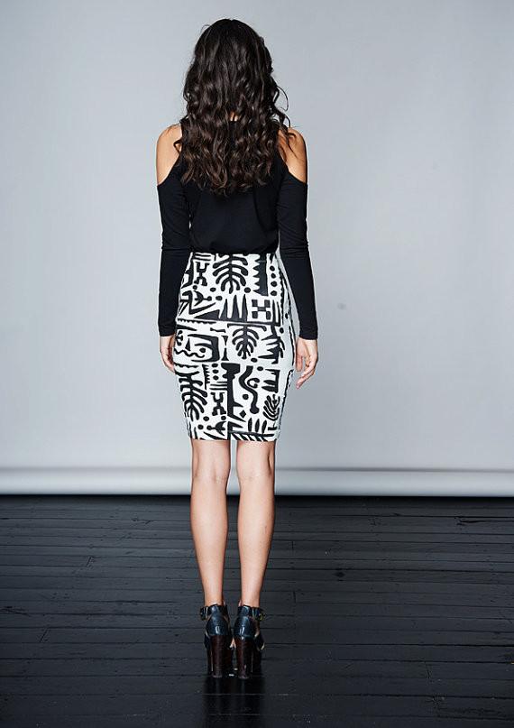 Komana Aubrey's Garden Screen Print Skirt
