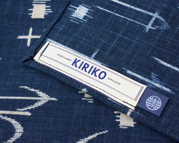 Kiriko Indigo Arrow Scarf