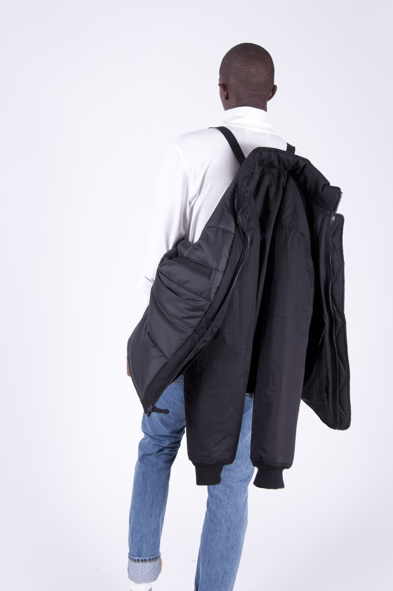 Our Legacy Puffed Funnel Jacket Washed Black From Four