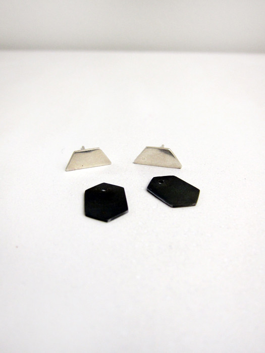 Kat Seale 2-Part Earrings Longer Trapezoid