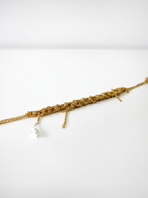 Arielle de Pinto Bare Chain Bracelet, Gold