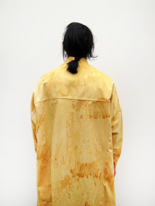 Unisex Eckhaus Latta Big Jean Jacket, Rust
