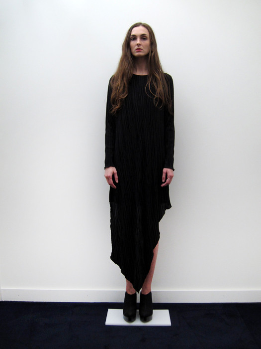 Ann-Sofie Back Broken Hem Long Sleeve Dress