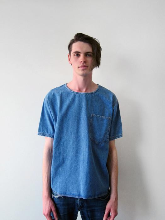 Unisex 69 Classic T-Shirt, Stonewash Denim