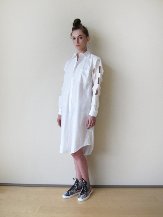 Nancy Stella Soto Cutout Shirtdress