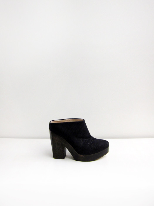 Sydney Brown Heeled Clog