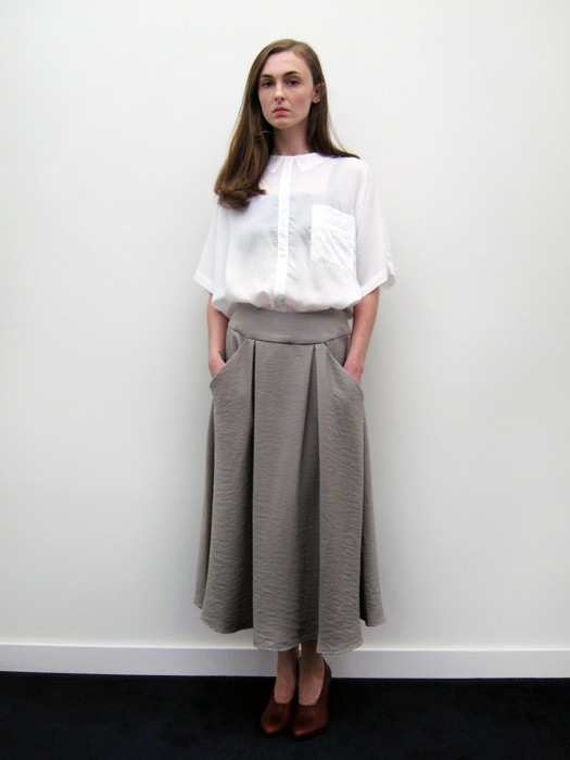 Suzanne Rae Inverted Pleat Skirt
