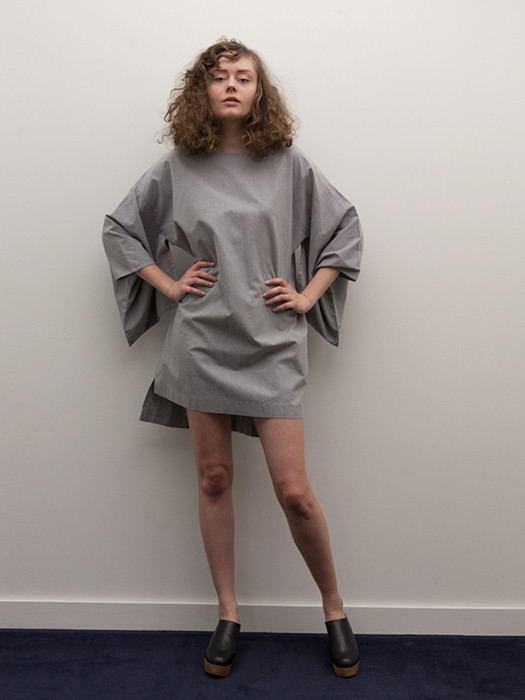 Cosmic Wonder Kimono Dress, Heather Grey