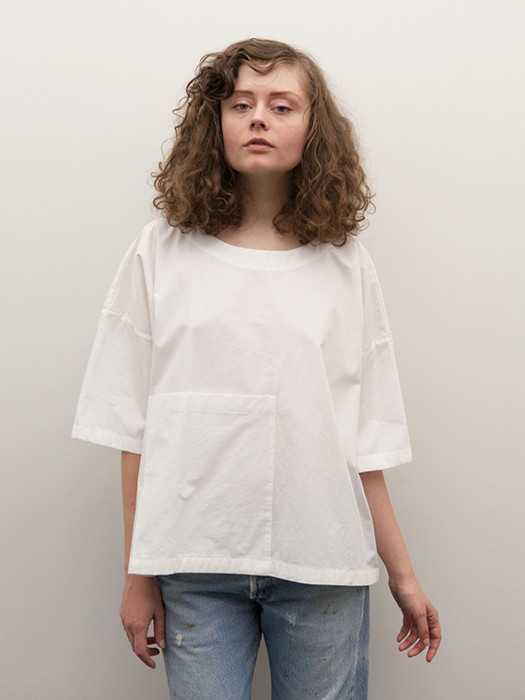 Rowena Sartin Oversize Pocket Shirt, White
