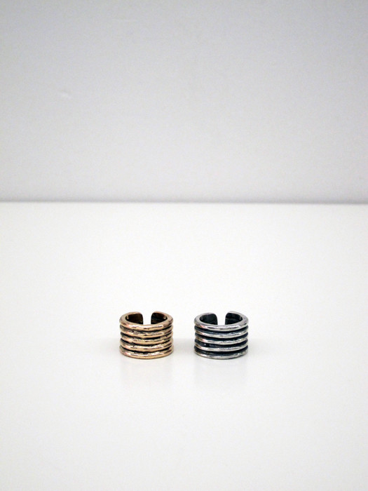 Kat Seale Ribbed Ring, Sterling Silver