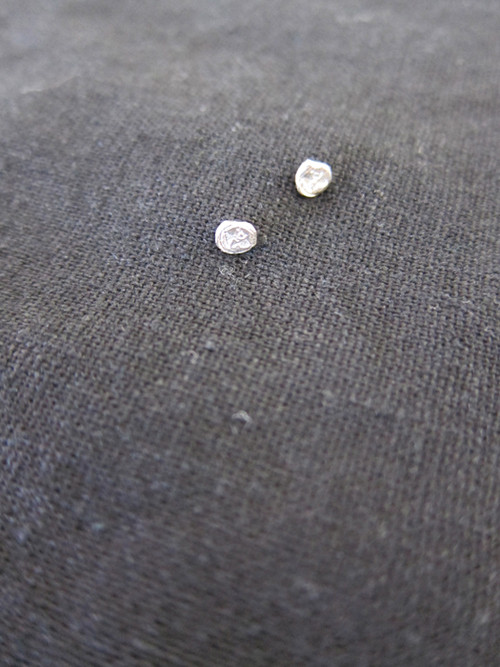"""Arielle de Pinto Round Stud """"AdP"""" Earrings"""
