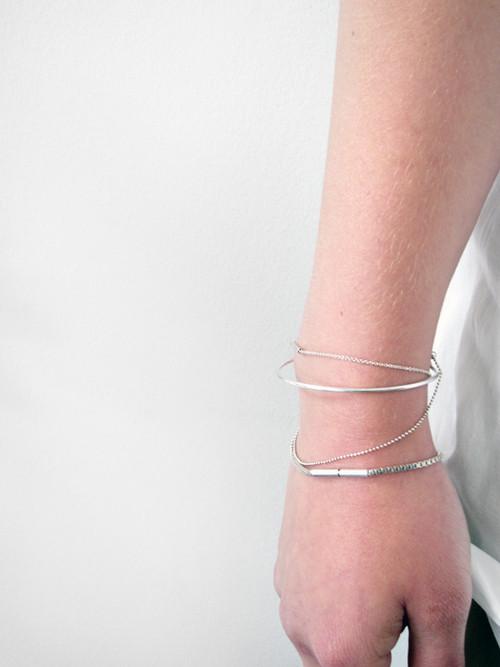 Saskia Diez Semifine Cubic Bracelet