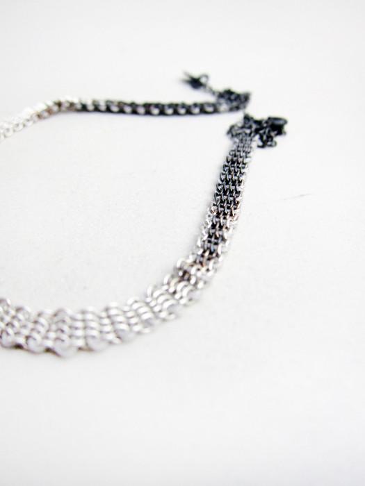 17 by Stephanie Schneider Sterling and Silk Bracelet