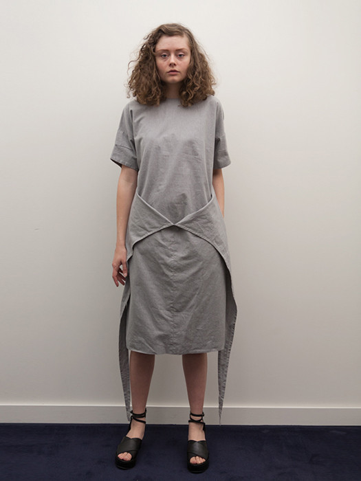 Cosmic Wonder Wrapped Dress in Heather Grey