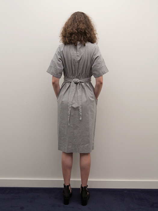 Cosmic Wonder Wrapped Dress in Heather Grey