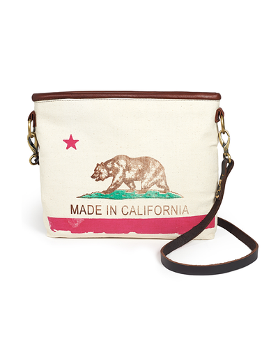 CALIFORNIA FLAG CLUTCH WITH STRAP