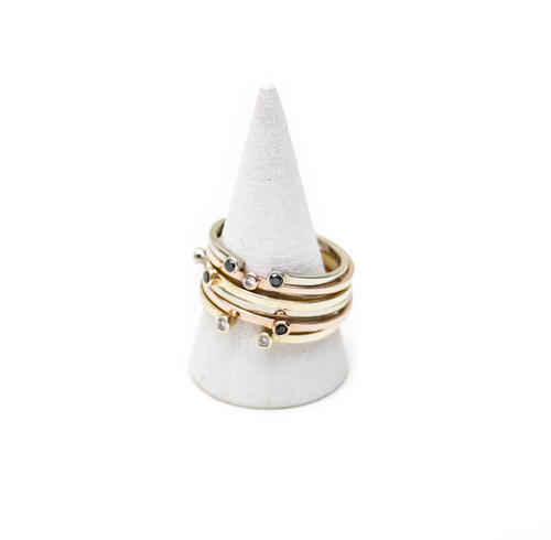Gabriela Artigas Single White Diamond Ring in White Gold