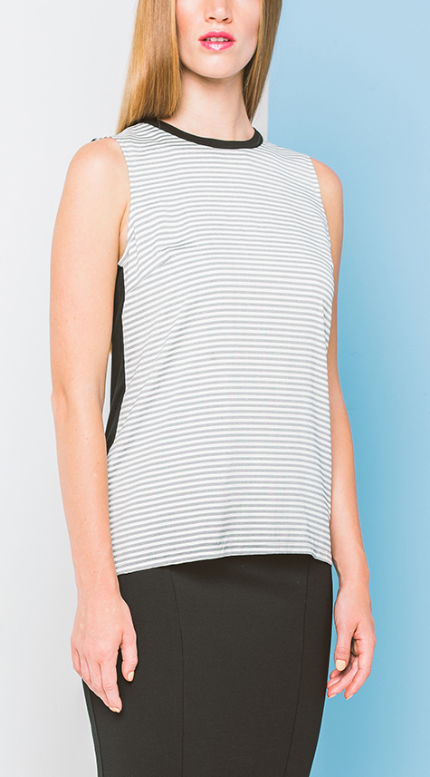 Obakki Striped Tank with Contrast