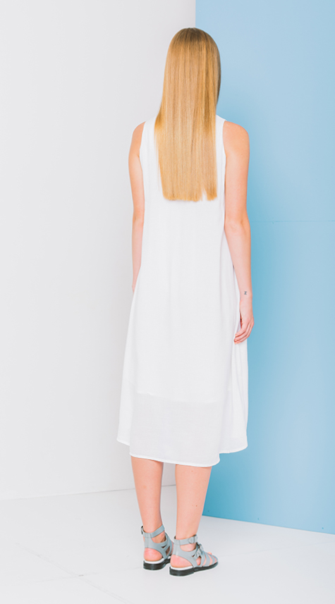 Obakki Mid-Length Dress with Trim Detail