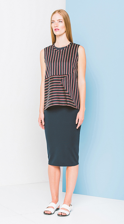 Obakki Multidirectional Stripe Shirt