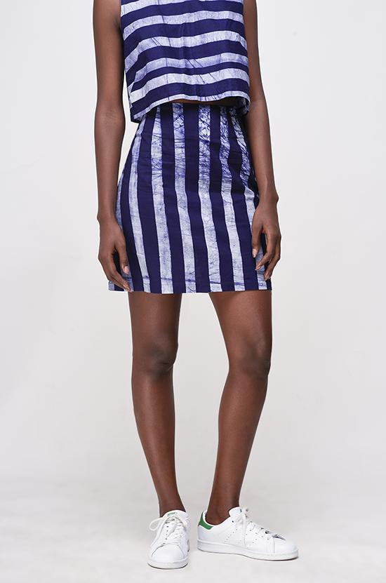 Osei-Duro Desine Skirt in Marine Stripe