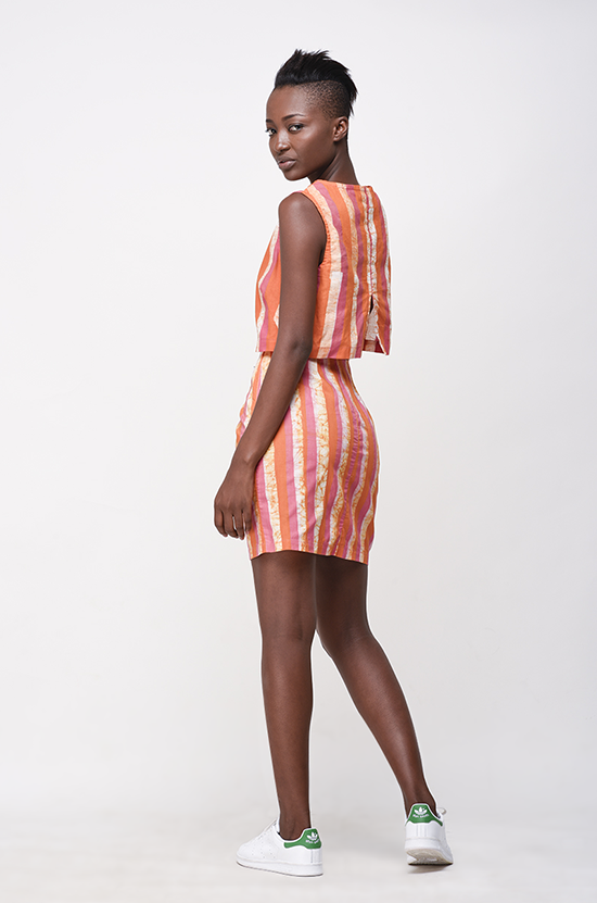 Osei-Duro Desine Skirt in Candy Stripe