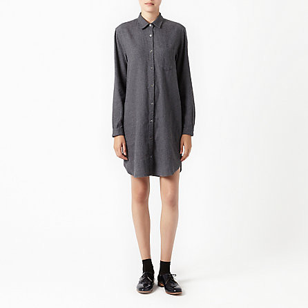 Steven Alan Classic Shirtdress Charcoal