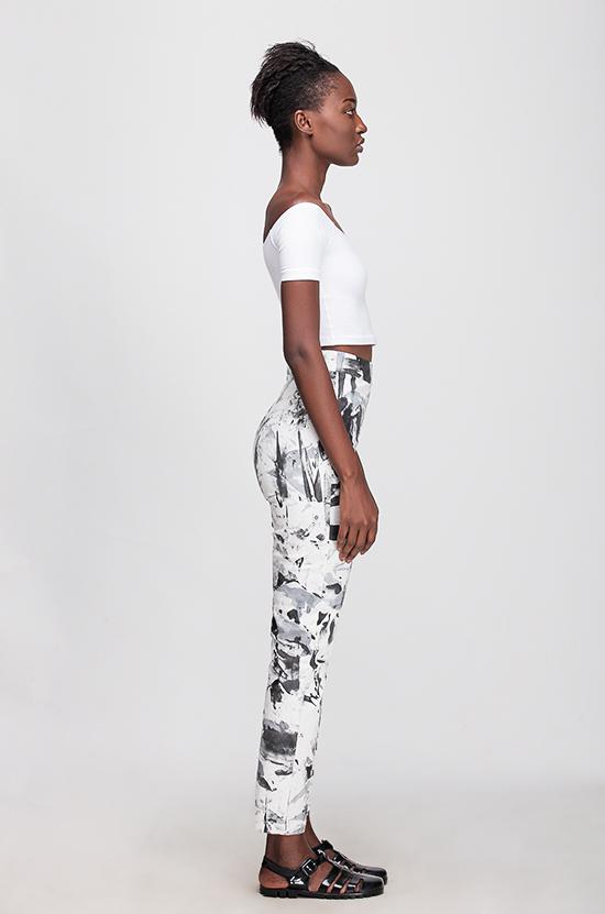 Osei-Duro Vapos Trouser in B&W Abstact