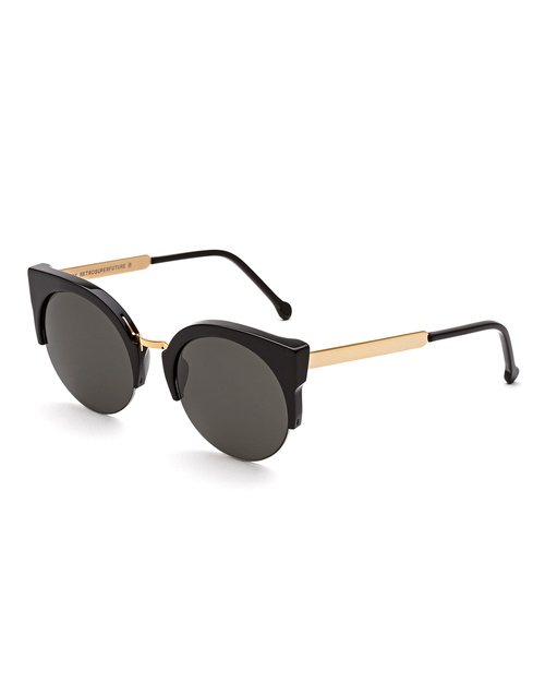 RetroSuperFuture Lucia Sunglasses in Francis Black and Gold