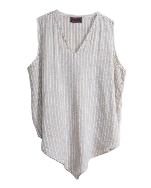 Tienda Ho Monsoon Tank in Striped Linen